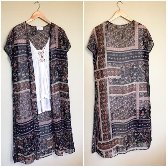 fdc6ab24a Sage Tops | The Label Sheer Kimono Duster | Poshmark
